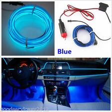 2M 12V Car SUV Interior Decorative Blue Lights EL Wire Cold Lamp Strip For Mazda