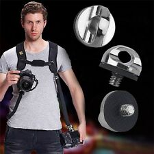 New 1/4  Screw For DSLR SLR Camera Strap Tripod Quick Release Plate Mount BY