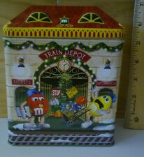 M & M's brand Christmas Village Series Train Depot #13 Limited Edition Canister