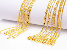 """10PCS Mix 10Kinds 22"""" 18K Yellow Gold Filled ROLO Figaro STAR S Necklace Chains"""