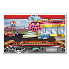 1950s DRIVE-IN CAR HOP Party MURAL Decoration SOCK HOP Grease HAPPY DAYS Hot Rod