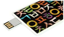 NEW 16GB 16G Creative Card Shaped USB Flash Drive /UNIQUE KOREAN HANGUL DESIGN /
