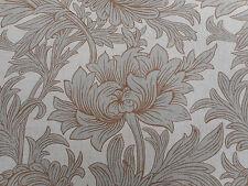 William Morris Curtain Fabric 'Chrysanthemum Toile' 2.1 METRES 210cm Slate/Cream