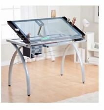 Glass Drafting Table Adjustable Professional Architecture Art Adult Work Station