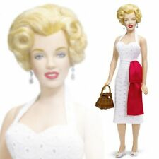 "FRANKLIN MINT MARILYN MONROE WALK OF FAME WHITE EYELET DRESS 17"" VINYL DOLL NIB"