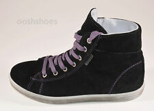 Ricosta Girls Zaynata Waterproof Black Suede Trainer Boots UK 2 EU 34