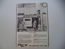 advertising Pubblicità 1966 CUCINE FORNO REX