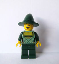 Lego Pretty Female Girl Minifigure  Witch Green Outfit Halloween