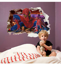 Spider Man Children/Baby Boy Playroom Bedroom Wall Sticker Decals Decor UK