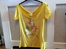 BNWT Diesel Indian face yellow women tee-shirt  XS