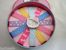 HELLO KITTY WATCH HK028 OFFICIAL SANRIO INTERCHANGEABLE RIBBON STRAPS GENUINE