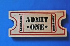 Movie Ticket Magnet Cherry wood Refrigerator Magnet American Made/ Homemade