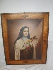 Bel dipinto Santa Theresia dal kinde Gesù con splendida cornice