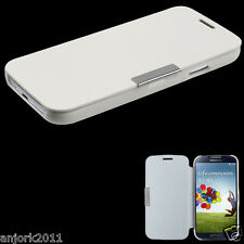 Samsung Galaxy S4 i337 i9500 Flip Case Cover w/ Magnetic Flap Solid White
