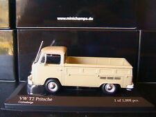 VW VOLKSWAGEN T2 PRITSCHENWAGEN 1972 CEYLONBEIGE MINICHAMPS 400053204 1/43
