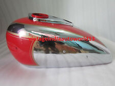 NEW ARIEL SQUARE FOUR RED PAINTED CHROME FUEL PETROL TANK (REPRODUCTION)