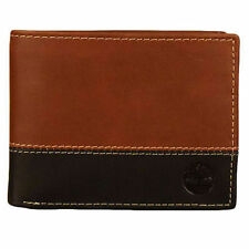 Timberland Hunter 2 Tone Commuter Genuine Leather Credit Card Bifold Mens W