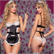 2016 Cosplay Lingerie Costume Sexy Maid Outfit Fancy Dress Women G-string