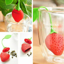 Strawberry Silicone  Herbal Spice Infuser For Tea Leaf Strainer Filter Diffuser