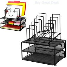 Desk Mesh Organizer Holder Office Pen Black Metal Desktop Pencil Supply Storage