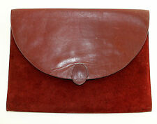 Vtg Must de Cartier Paris Envelope Clutch Bag Purse Flat Briefcase Ladies 80s
