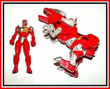 2010 Mighty Morphin Power Rangers _ Red Dino Rider _ * Must See *