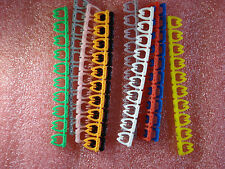 Cable Markers x 100 Colourful C-Type Marker Number Tag Label  4-6mm cat5 #D13