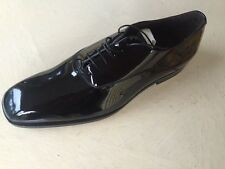 NIB $ 495 Z Zegna Genuine Leather Shoes Black US 12 D ( Eur 45 ) Italy