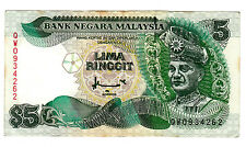 RM5 Ahmad Don sign 7th series - Last prefix QW 0934262 (VF)
