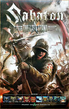 SABATON The Last Stand 2016 Ltd Ed New RARE Poster +FREE Metal Rock Poster!