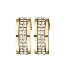 Dyrberg Kern Starlight Kimmie Swarovski Crystal Hoop Earrings in Gold