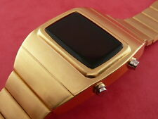 Rare old style modern futuristic 70s seventies space age mens led l.e.d watch 17