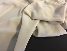 "New Designer Nude Pebble Chiffon Fabric 60"" 150cm Dress Cloth Garment Material"