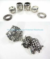 owl pendant slide scarf rings set scarf necklace jewelry