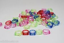 """24 Colorful Rings 3/4"""" Bird Toy Parts Parrot Toys Sugar Gliders WTBT"""