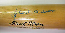 HANK AARON AUTOGRAPHED LIMITED EDITION BAT SCORE BOARD