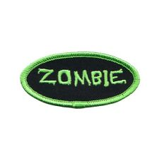 Name Tag Zombie Novelty Embroidered Iron On Badge Applique Patch FD