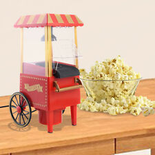 Mini Hot Air Pop Corn Maker Cart Popper Machine Tabletop Vintage Home Movie Red