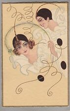 Beautiful Vintage Postcard - Pierrot & Pierette - Art Deco Glamour - Chiostri