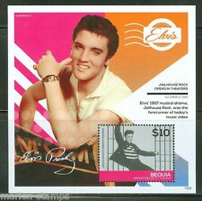 BEQUIA 2014 ELVIS PRESLEY 50 MILLION FANS CAN'T BE WRONG  S/S MINT NH