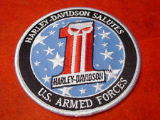 "HARLEY DAVIDSON MOTORCYCLES ""SALUTES THE MILITARY"" PATCH - WILLIE G. SKULL - HOG"