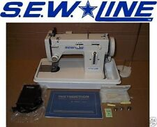 SEWLINE NEW SL146-9  NINE INCH BED  PORTABLE WALKING FOOT ZIG ZAG SEWING MACHINE