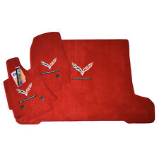 2014-2017 Corvette C7 Stingray Floor Mats & Cargo Mat - Coupe - Adrenaline Red