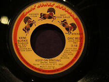 Keni Burke 'Keep ON  Singing' EX   Promo MONO/Stereo