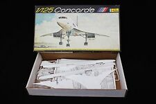 Rare maquette Heller boite vintage 1/125 CONCORDE Air France British Airways 457