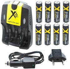 110/220V Home & Car Charger With 8 AA (Eight) Battery For Kodak Easyshare Z5010
