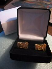 Genuine Unusual BANFI Wine Sterling Silver Gold Tone Cufflinks New in Box NIB