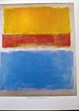 Mark Rothko Poster after Untitled 1953 Painting Yellow Red and Blue 14x11