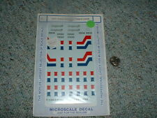 Microscale decals O Gauge 48-61 Amtrak Superliners Phase III lounge cafe D40