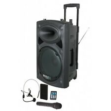 Ibiza Sound Portable Battery Powered Bluetooth PA System 700W Wireless Radio Mic